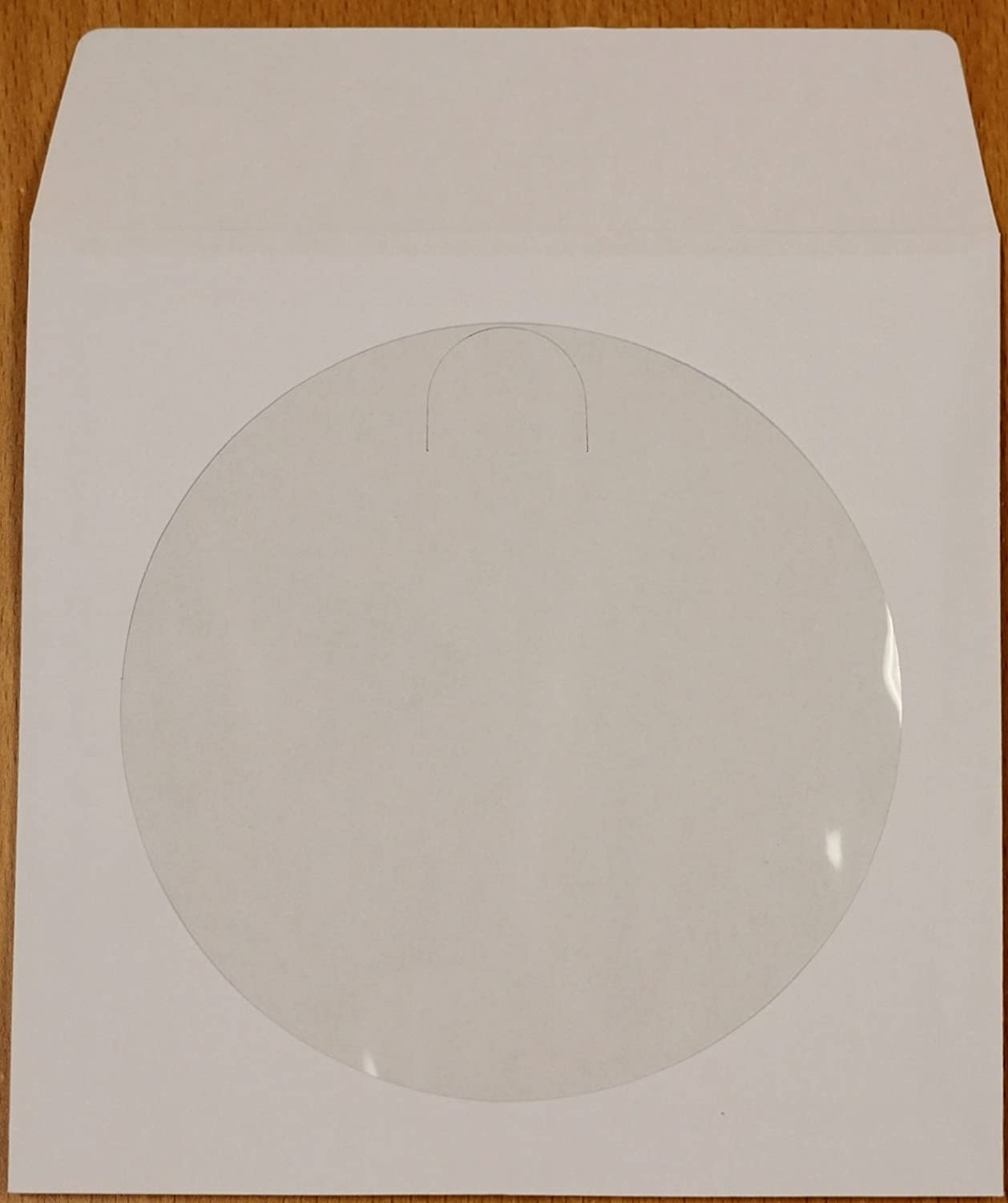 500 White Paper CD / DVD Disc Sleeves With Flap & Window #CDIWWF - Perfect for Storing CDs and DVD Discs!