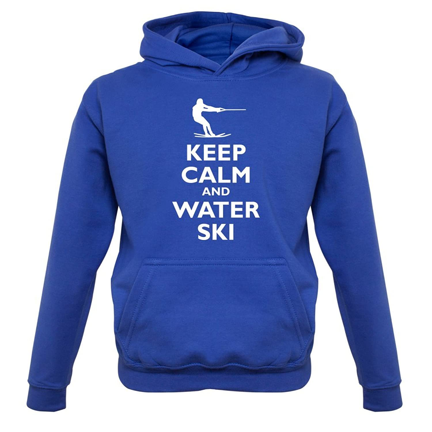 Keep Calm and Water Ski - Kinder Hoodie/Kapuzenpullover - 9 Farben - 1-13 Jahre