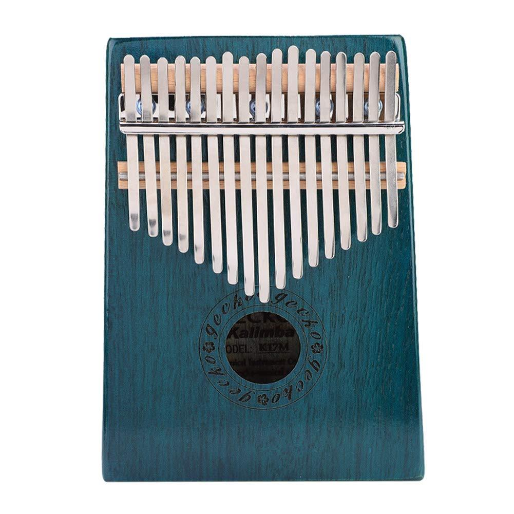 Thumb Piano, 17-Key Kalimba Portable Thumb Piano Maple Wooden Body Musical Instrument Blue by Estink