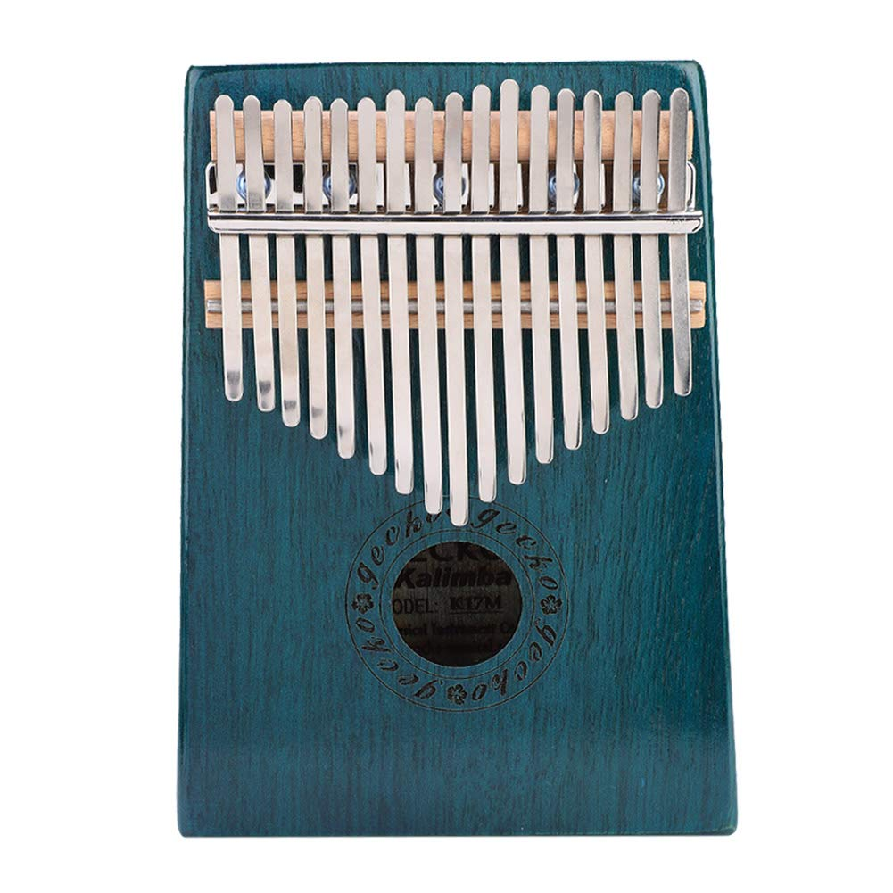 Thumb Piano, 17-Key Kalimba Portable Thumb Piano Maple Wooden Body Musical Instrument Blue