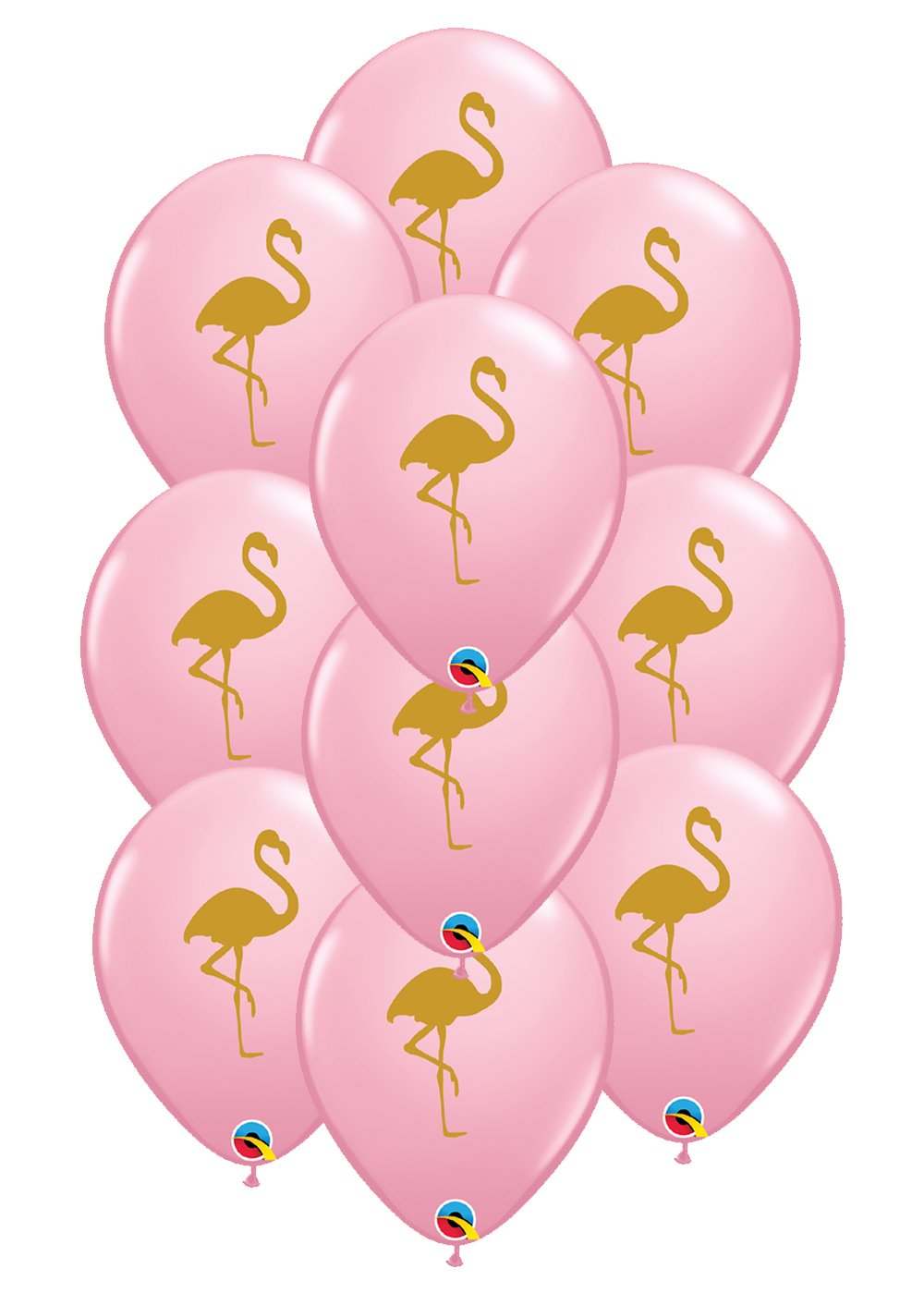 Set of 10 Pink Flamingo 11 Latex Balloons