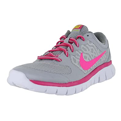 cf5eeb0295b74 NIKE KIDS NIKE FLEX RUN 2015 NK724992 004 (Grey Vivid Pink White Pink Pow