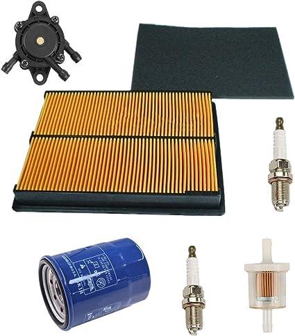 Amazon.com : Euros Air Filter with Pre Filter + Oil Filter + Fuel Filter +  2Pcs Spark Plug + 16700-Z0J-003 Fuel Pump Replace For Honda GX610 GX620  GX670 17210-ZJ1-842 17210-ZJ1-841 17218-ZJ1-840 20HP | Gx610 Fuel Filter |  | Amazon.com