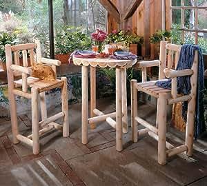 3 Piece Log Cafe Bistro Set