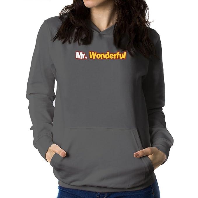 Teeburon Mr wonderful Sudadera con capucha para mujer: Amazon.es: Ropa y accesorios
