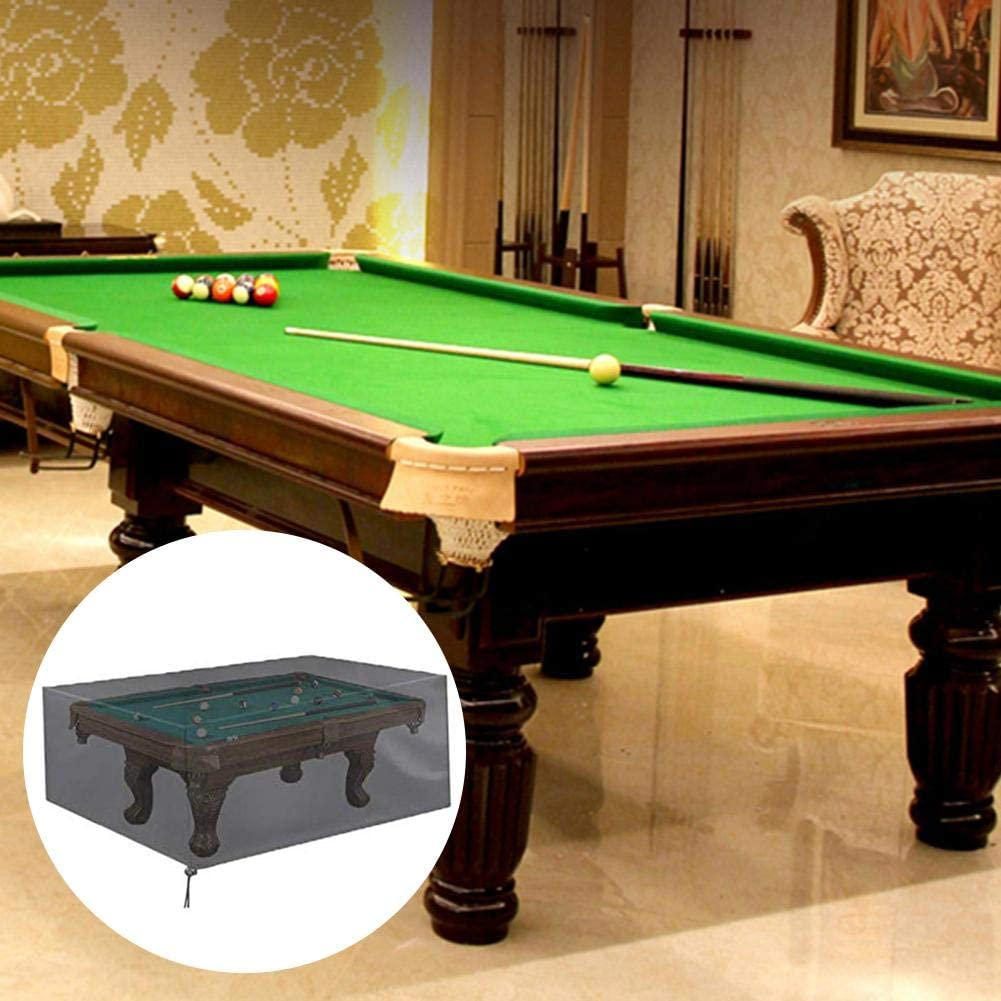 Jannyshop 7 Ft Billiard Table Dust Cover Waterproof 210D Oxford Cloth Pool Table Cover Full Protection with Drawstring for Snooker Billiard Table