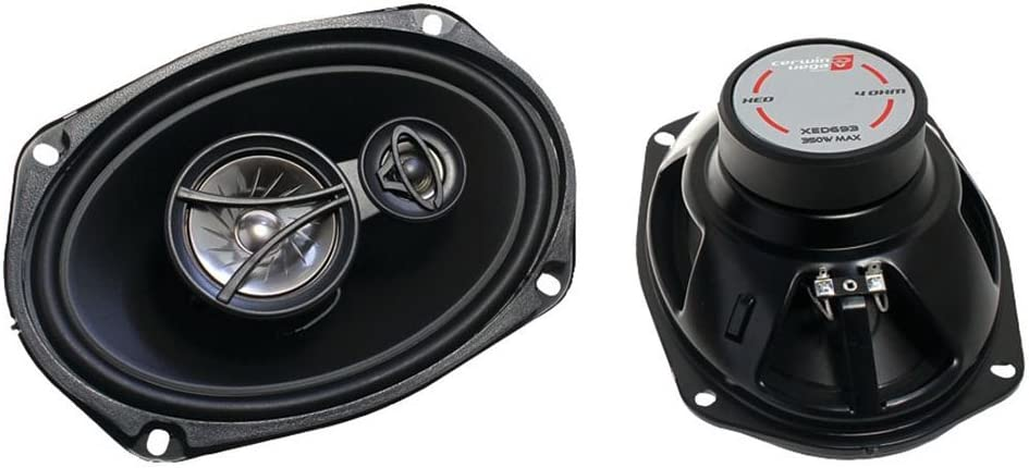 CERWIN VEGA XED693 6 x 9 Inches 350 Watts Max 3-Way Coaxial Speaker Set