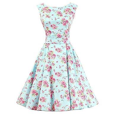 Prom Dresses, YILIA 1950s Vintage Floral Summer Dresses for Women