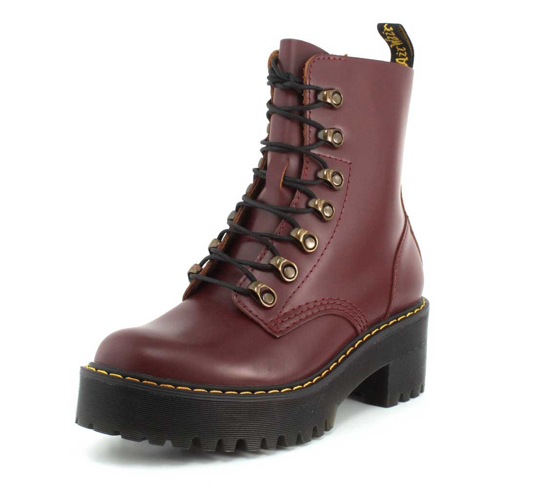 Dr. Martens Women's Leona Orleans Fashion Boot B01MZ4WB6D 8 M UK / 10 B(M) US|Oxblood