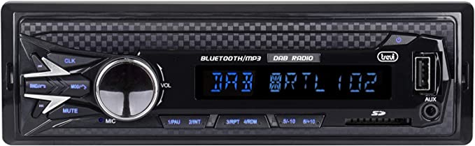 Trevi SCD 5751 DAB Autoradio DAB/DAB+ / FM con RDS, Mp3, USB, SD