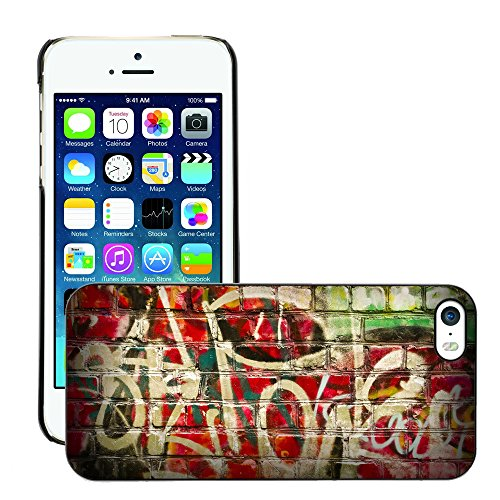 Premio Sottile Slim Cassa Custodia Case Cover Shell // V00002257 Graffiti // Apple iPhone 5 5S 5G