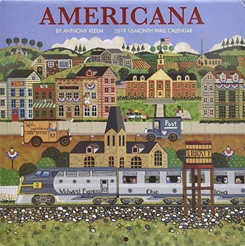 Americana by Anthony Kleem 2019 Wall Calendar 16 Months 11