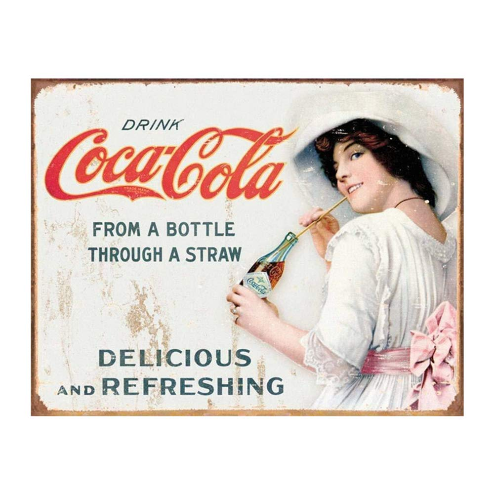 Amazon.com: EffortLife Coca-Cola - Cartel de hojalata retro ...