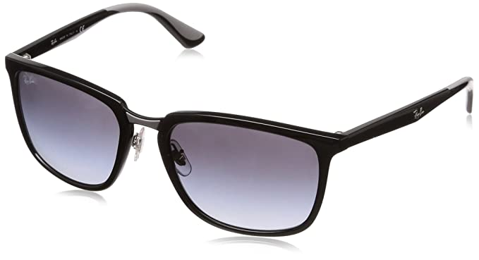 Ray-Ban 601/8G, Gafas de sol para Hombre, Black 57: Amazon ...