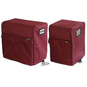 G.U.S. Designer Appliance Covers Bundle For Countertop Appliances -- 1-Large, 1-Small/Medium. Ideal For Blenders, Coffeemakers, Toasters, Crock Pots, Food Processors, Popcorn Makers, Juicers
