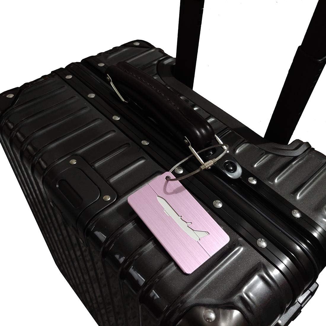 Repuhand 5 Pi/èce /Étiquettes Valise Mix Couleurs Bagages /Étiquettes en Alliage daluminium avec Cordes en Acier Inoxydable Accessoires Voyage