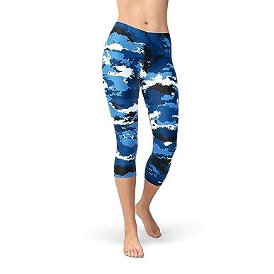 c7c71b8b033b67 Satori_Stylez Blue Camo Capri Leggings for Women Printed Army ...