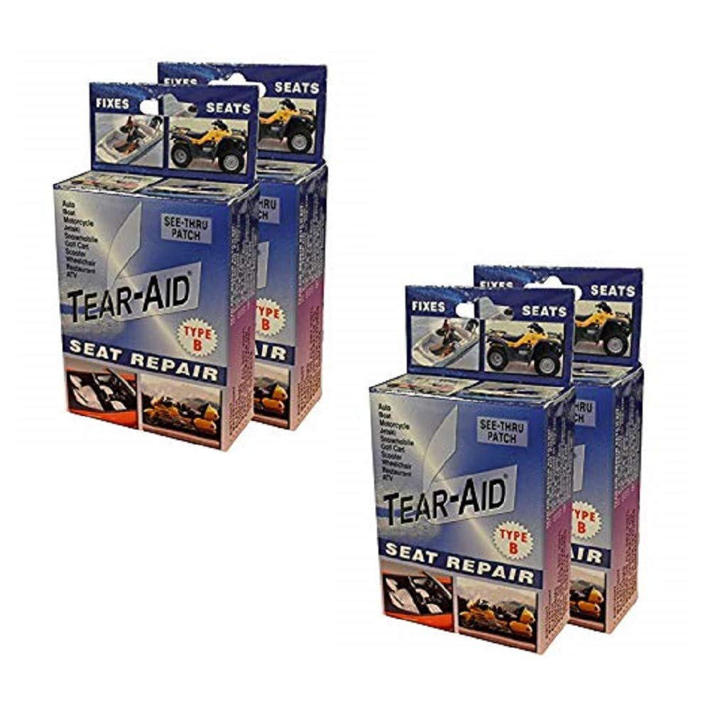 Tear-Aid Vinyl Seat Repair Kit, Blue Box Type B (4 Pack) by Tear-Aid Repair