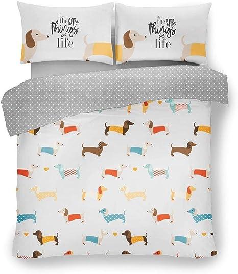 sausage dog king size duvet cover