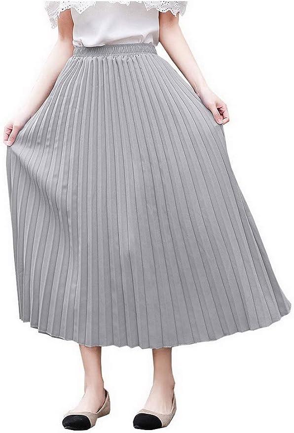 ACMEDE - Falda de Mujer de Cintura Alta, Plisada, Estilo Vintage ...