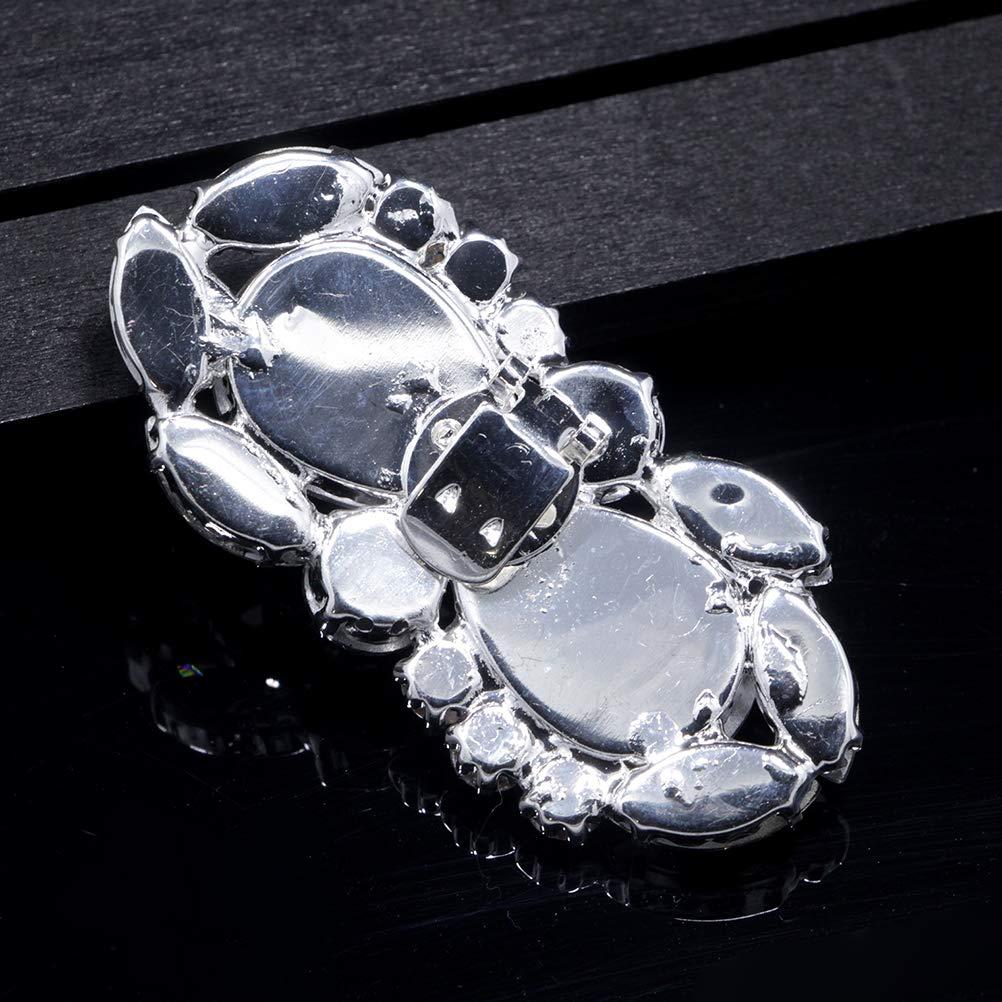 BESTOYARD 1/Paire de Chaussures en Verre Boucles Clip en Les d/écorations du Chaussure Chaussures DIY Chaussures Accessoires pour la Mariage de la mari/ée Femme