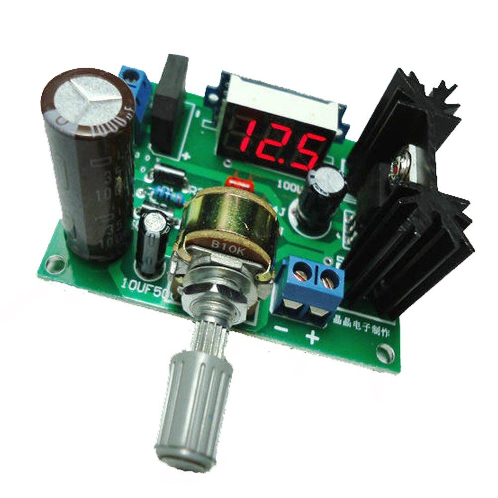 Geree Led Lm317 Step Down Power Supply Module Adjustable Usb Battery Replacement By Voltage Regulator Input Dc 0v 30v Ac 22v Output 125v 2a Home Audio