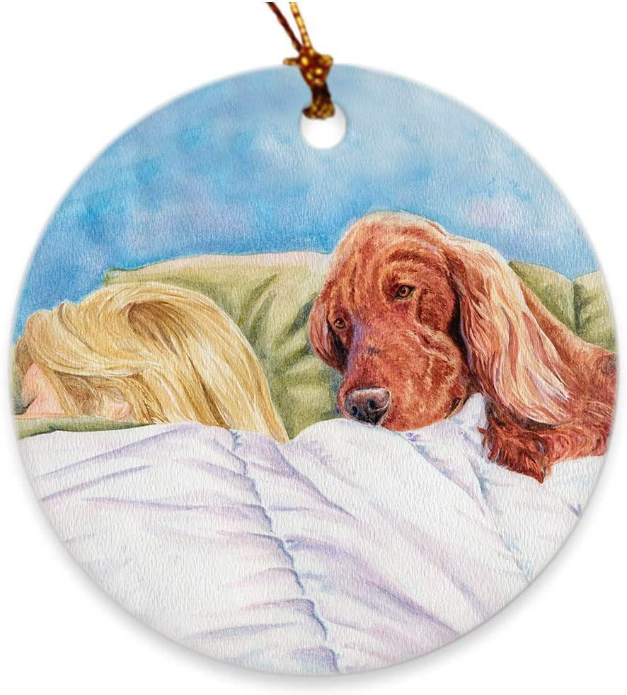 "Irish Setter ""Lucky Dog"" Christmas Ornament"