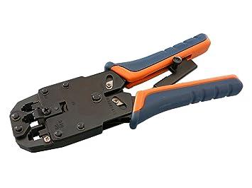 Pinza crimpadora (para conectores RJ45 de 8P8C, RJ12 de 6P6C, RJ11 de 6P4C