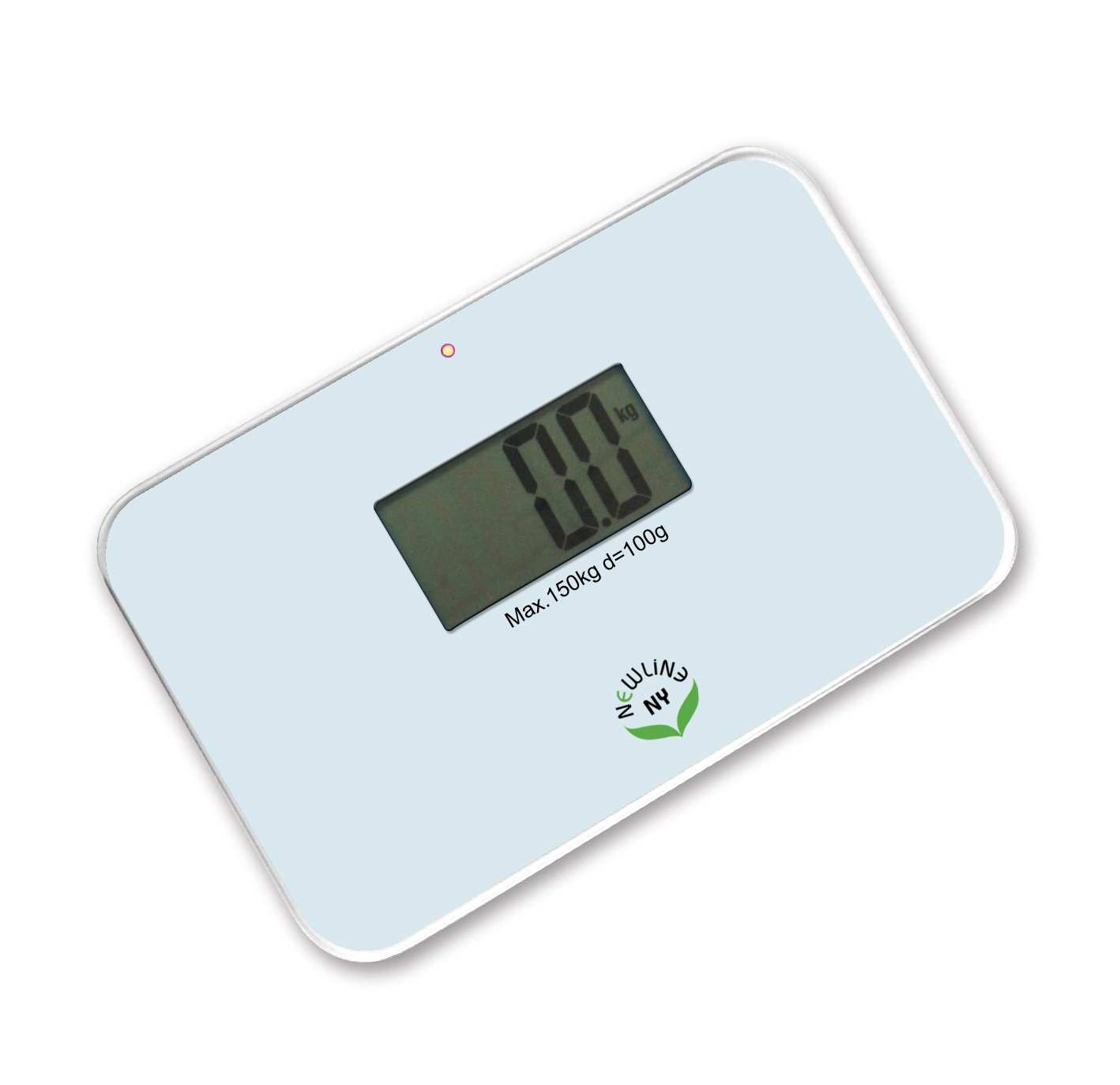 NewlineNY Auto Step On Super Mini Travel Bathroom Scale SBB0638SM (White)