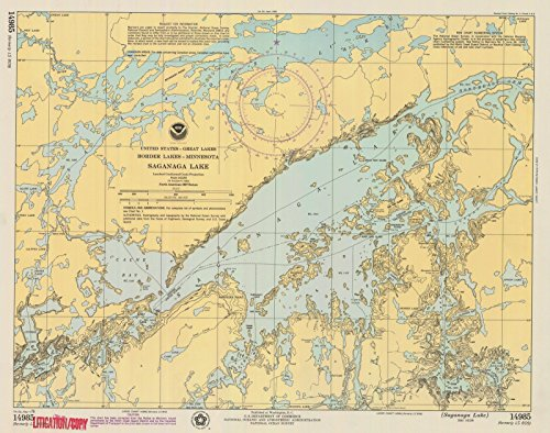 Reproductions Map Historical (1976 Nautical Chart | Historical Saganaga Lake, MN | Vintage Map Fine Art Reproduction Print)