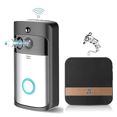 Anillo De Vídeo Timbre 720p HD vídeo de dos vías de hablar de detección de movimiento WiFi