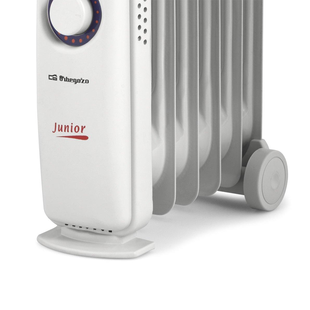 Orbegozo RO 1010 C - Radiador de aceite mini, potencia de 1000 W, construcción modular y diseño compacto en color blanco: Amazon.es: Hogar