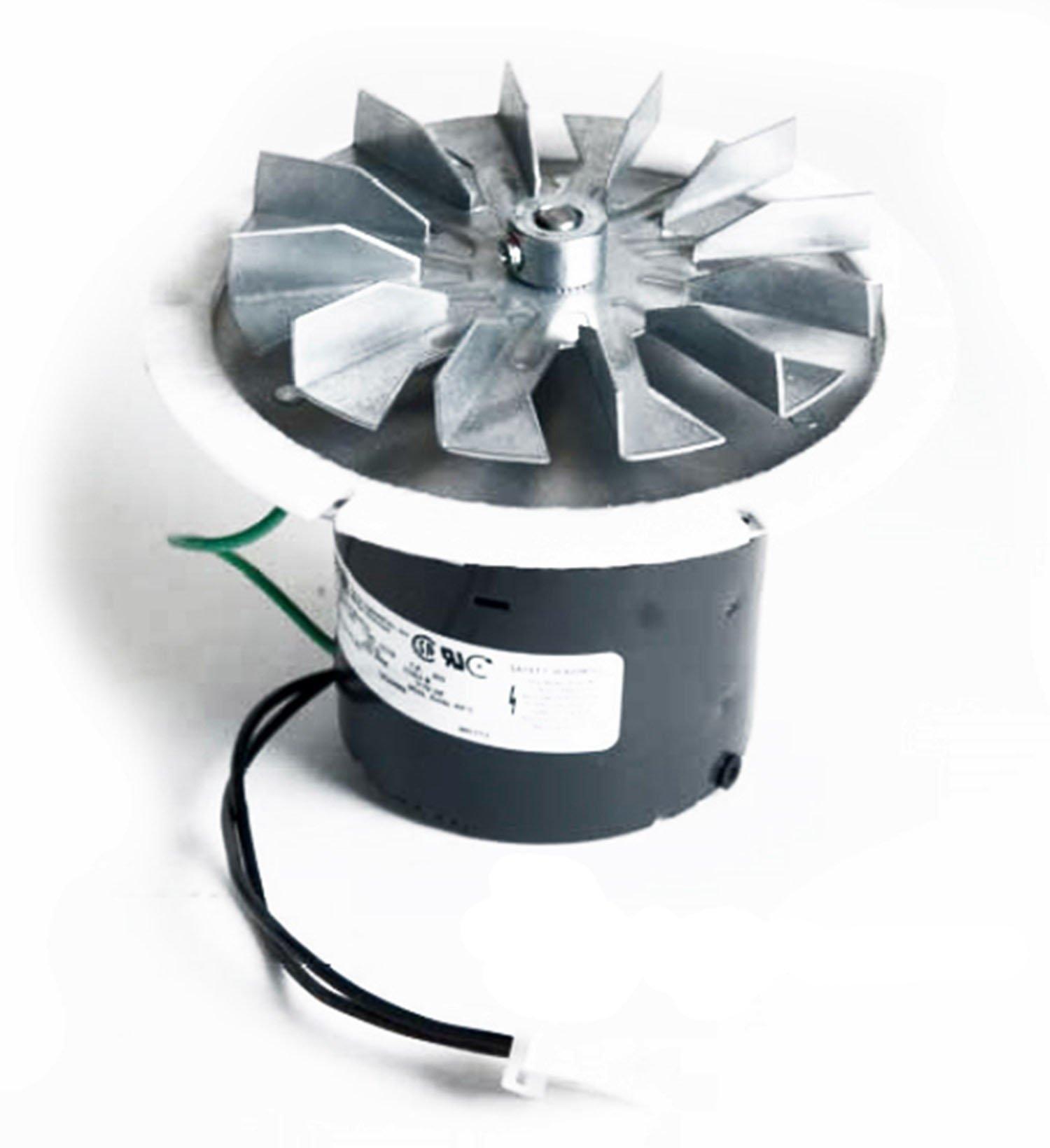 PelletStovePro - Whitfield Advantage I, II, III, Plus Pellet Stove Exhaust Combustion Motor Blower w Housing & Gasket - 12056010, 12126009, 12156009