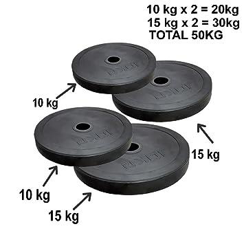 """Set de platos 2 """"Barras para pesas 50 kg peso olímpico Levantamiento de Peso"""