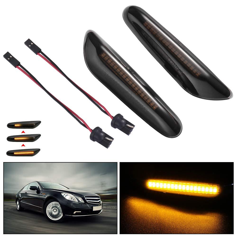 onedeal Para BMW E46 E60 E82 Luces indicadoras de repetidor de Marcador Lateral LED din/ámico 920 MA2031