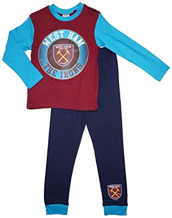 Boys Official West Ham United FC The Irons Football Club Pyjamas Sizes from  4 to 12 Years  Amazon.co.uk  Clothing 01049dda1