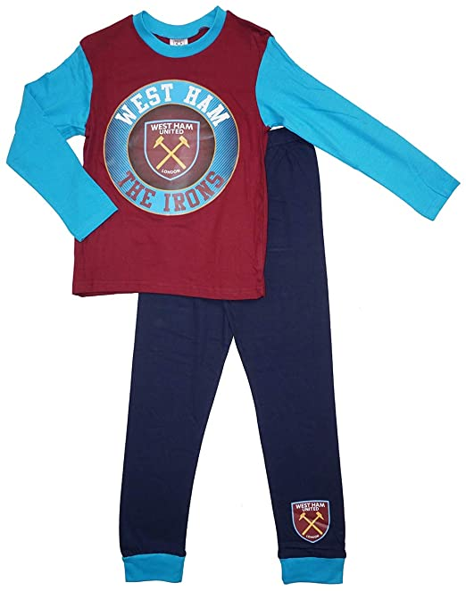 ce8e1b7d4994 Boys Official West Ham United FC The Irons Football Club Pyjamas Sizes from  4 to 12 Years  Amazon.co.uk  Clothing
