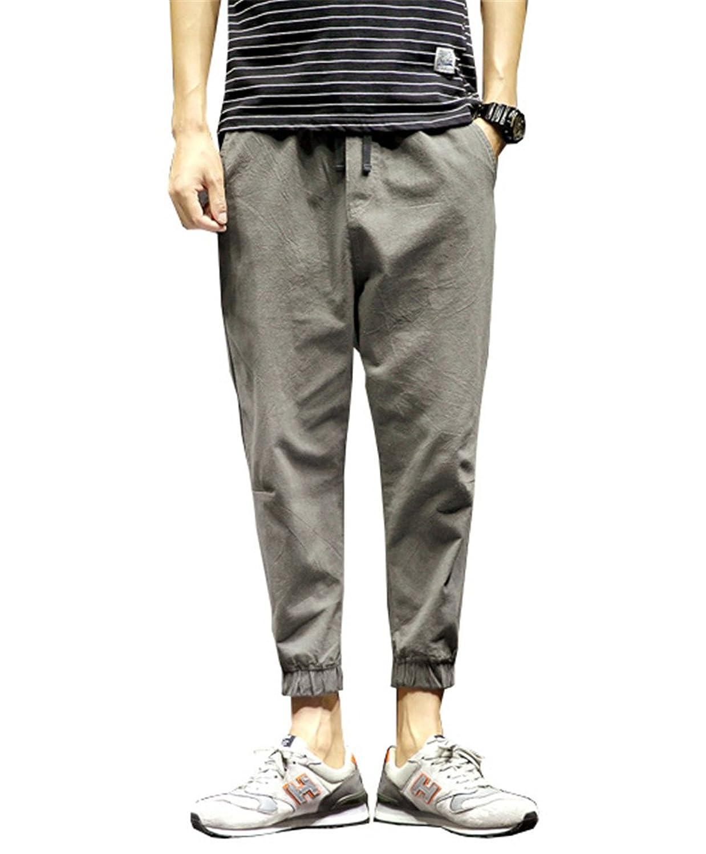 DaBag Automne New Petit pantalon Couleur unie pantalon décontracté Hommes  Grande Taille Loose Poche Solide Harlan 2760cd3d6db