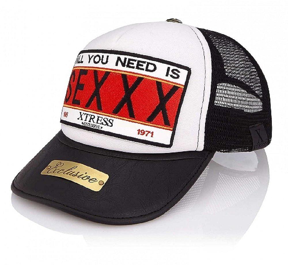 Xtress Exclusive Gorra blanca y negra con el logo SEXXX para ...