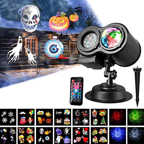 [Christmas Lights, LED Lights]-Waterproof Lawn Ripple Effect LED Light Projector for Halloween Christmas Party,Christmas Decoration