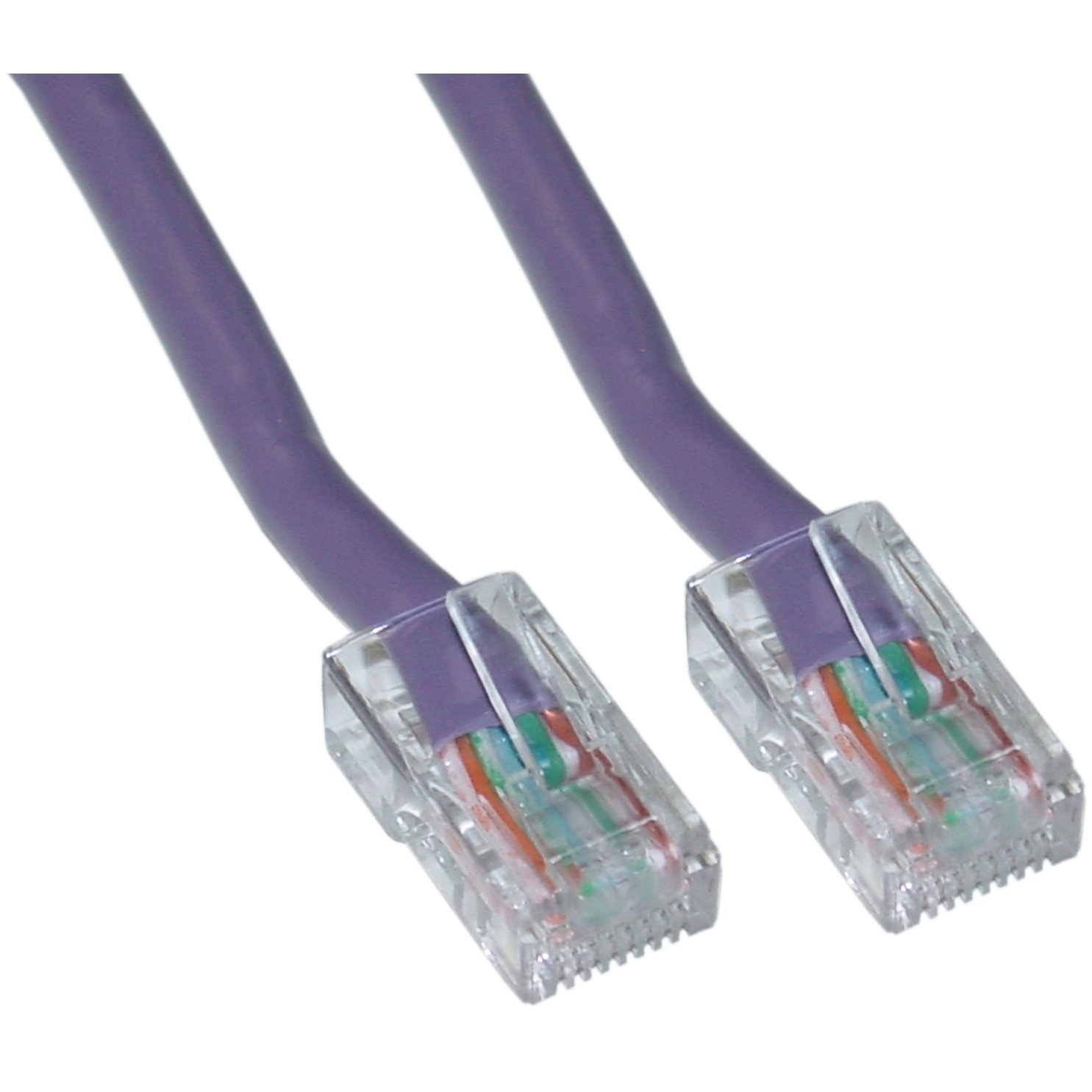 Cat5e Purple Ethernet Patch Cable Bootless 3 Foot Yellow 50 Part Number Computers Accessories
