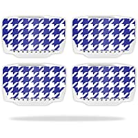 Skin For Blade Chroma Drone Battery (4 pack) – Blue Houndstooth | MightySkins Protective, Durable, and Unique Vinyl Decal wrap cover | Easy To Apply, Remove, and Change Styles | Made in the USA