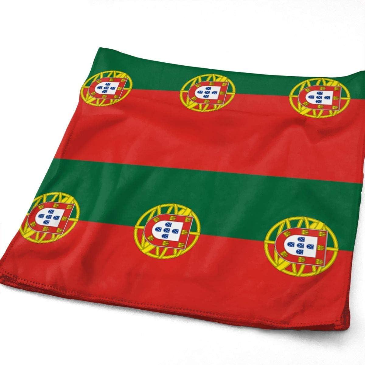 Playa y SPA Gimnasio Mnsruu Toalla de Mano dise/ño de Bandera de Portugal para ba/ño Toalla de Mano