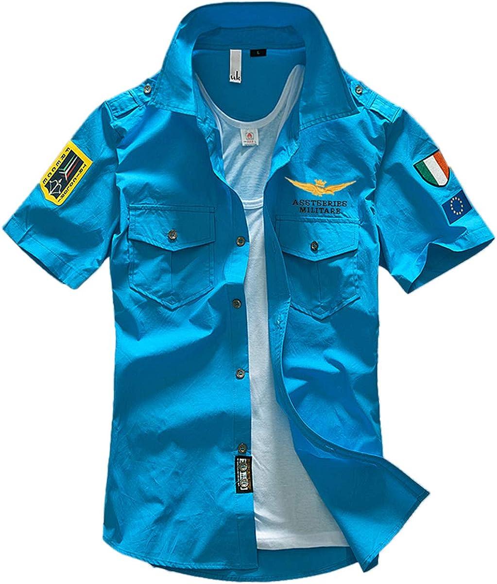 Camiseta Corta de Hombre, Camisa de algodón, Camisa de ...