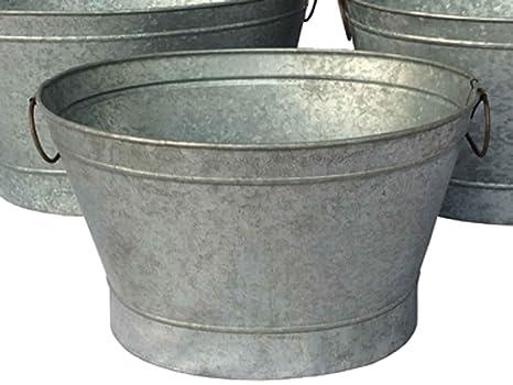Vasca Da Bagno Di Zinco : Zinco vasca dekowanne secchio zincato lamiera di zinco l cm