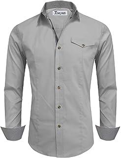 Men's Black Shirts & Tops Grey Striped Long Sleeved Stylish Shirt Size L App 40 Inch Next