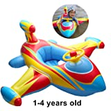 HSOMiD Inflatable Airplane Baby Kids Toddler Infant Swimming Float Seat Boat Pool Ring (D type
