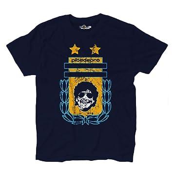 Camiseta camiseta fútbol Vita de Strada del Pibe de Oro Argentina Grunge 2, KTS01714_S,
