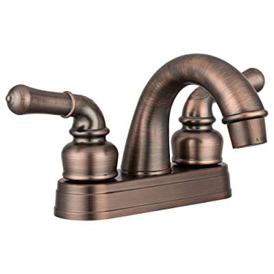 Dura Faucet DF-PL620C-ORB RV Classical Two Handle Arc Spout Bathroom Faucet (Oil-Rubbed Bronze): Automotive