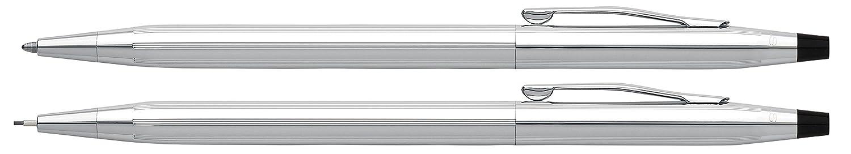 Classic Century Ballpoint Pen & Pencil Set, Chrome/Black Accent, Sold as 1 Set A. T. Cross Company 350105